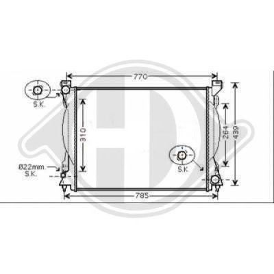 Radiateur, refroidissement du moteur - Diederichs Germany - 8102613