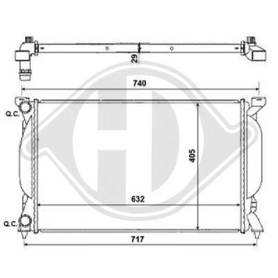 Radiateur, refroidissement du moteur - Diederichs Germany - 8102616