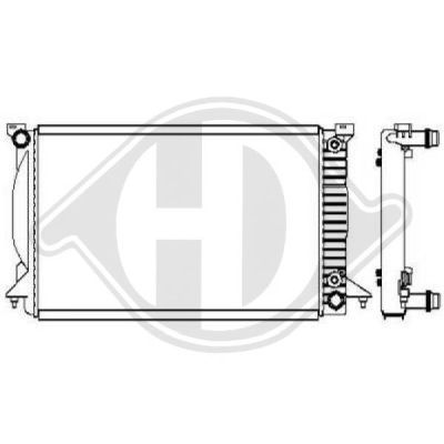 Radiateur, refroidissement du moteur - Diederichs Germany - 8102619