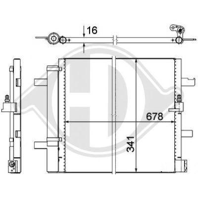 Condenseur, climatisation - HDK-Germany - 77HDK8102800