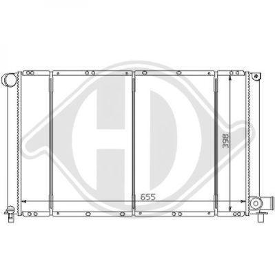 Radiateur, refroidissement du moteur - Diederichs Germany - 8103103