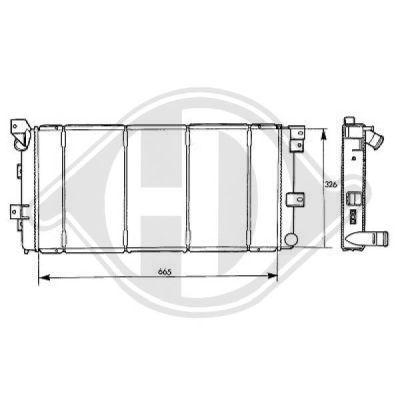 Radiateur, refroidissement du moteur - Diederichs Germany - 8103105