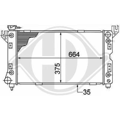 Radiateur, refroidissement du moteur - Diederichs Germany - 8103109