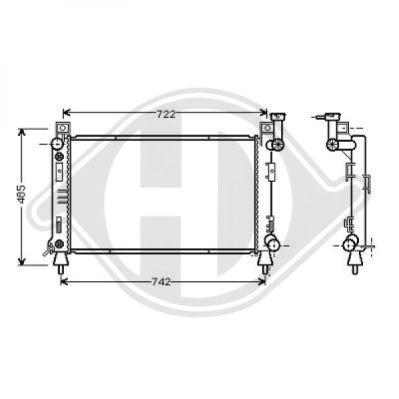 Radiateur, refroidissement du moteur - Diederichs Germany - 8103115
