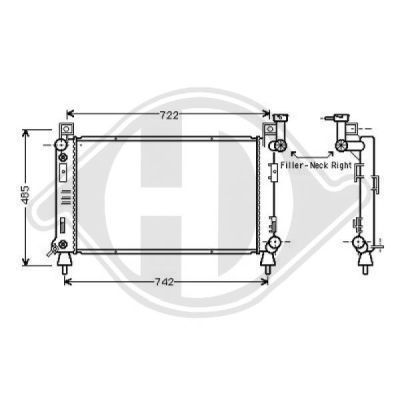 Radiateur, refroidissement du moteur - Diederichs Germany - 8103116