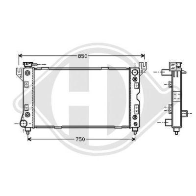 Radiateur, refroidissement du moteur - Diederichs Germany - 8103117