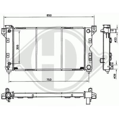 Radiateur, refroidissement du moteur - Diederichs Germany - 8103118