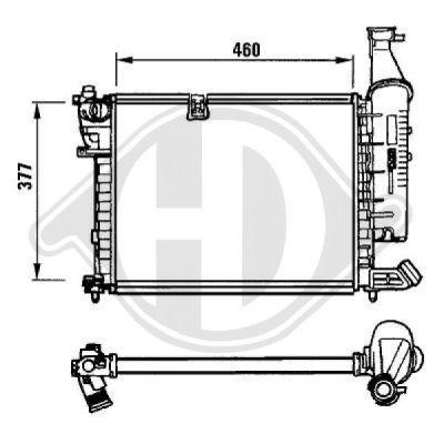 Radiateur, refroidissement du moteur - Diederichs Germany - 8104113