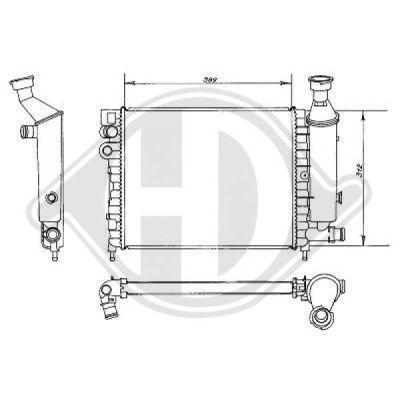 Radiateur, refroidissement du moteur - Diederichs Germany - 8104129