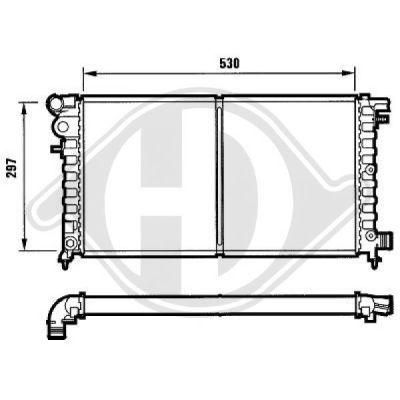 Radiateur, refroidissement du moteur - Diederichs Germany - 8104131