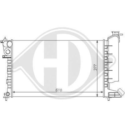 Radiateur, refroidissement du moteur - Diederichs Germany - 8104134