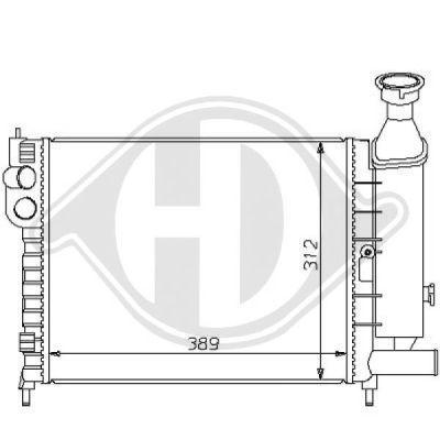 Radiateur, refroidissement du moteur - Diederichs Germany - 8104139
