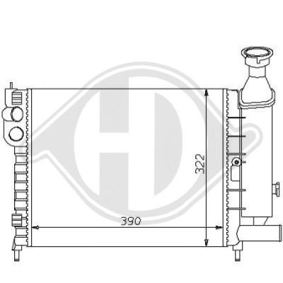 Radiateur, refroidissement du moteur - HDK-Germany - 77HDK8104140