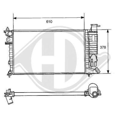Radiateur, refroidissement du moteur - Diederichs Germany - 8104147