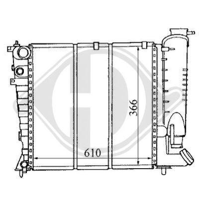 Radiateur, refroidissement du moteur - Diederichs Germany - 8104149