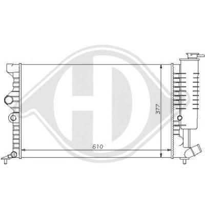 Radiateur, refroidissement du moteur - Diederichs Germany - 8104151