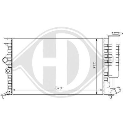Radiateur, refroidissement du moteur - Diederichs Germany - 8104154