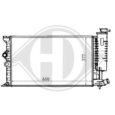Radiateur, refroidissement du moteur - Diederichs Germany - 8104157