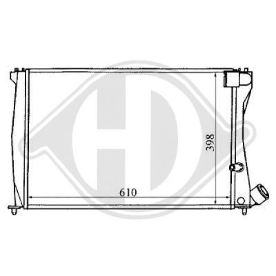Radiateur, refroidissement du moteur - HDK-Germany - 77HDK8104159
