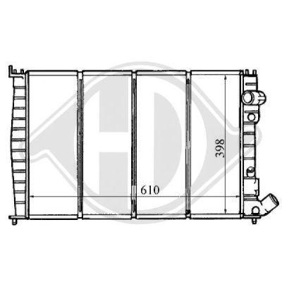 Radiateur, refroidissement du moteur - Diederichs Germany - 8104162