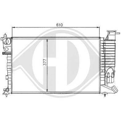 Radiateur, refroidissement du moteur - Diederichs Germany - 8104165