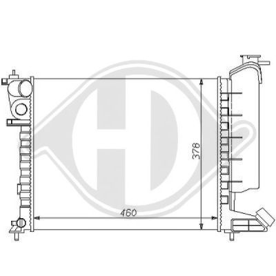 Radiateur, refroidissement du moteur - Diederichs Germany - 8104166