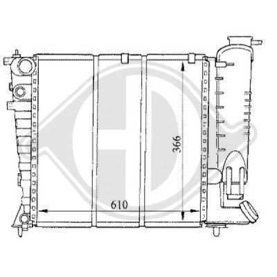 Radiateur, refroidissement du moteur - Diederichs Germany - 8104167