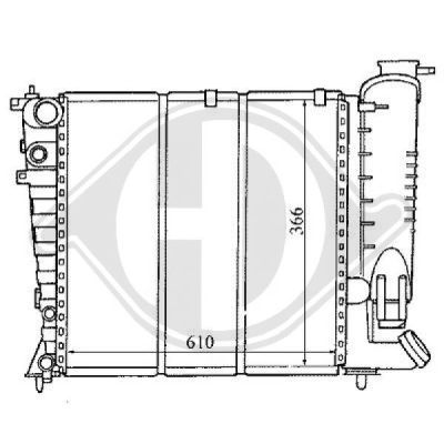 Radiateur, refroidissement du moteur - HDK-Germany - 77HDK8104168