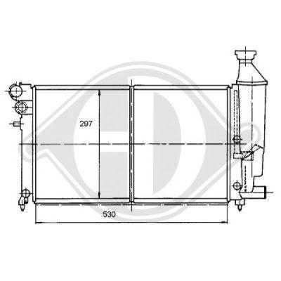 Radiateur, refroidissement du moteur - Diederichs Germany - 8104171