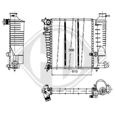 Radiateur, refroidissement du moteur - Diederichs Germany - 8104176