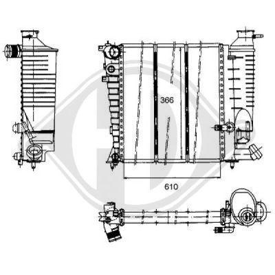 Radiateur, refroidissement du moteur - Diederichs Germany - 8104179
