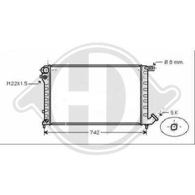 Radiateur, refroidissement du moteur - Diederichs Germany - 8104181
