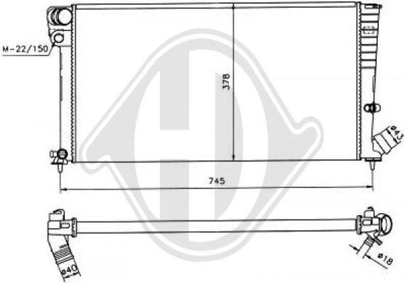 Radiateur, refroidissement du moteur - Diederichs Germany - 8104182