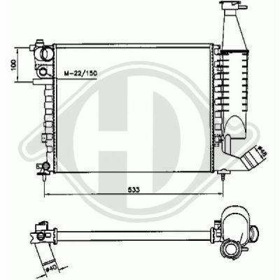 Radiateur, refroidissement du moteur - Diederichs Germany - 8104185
