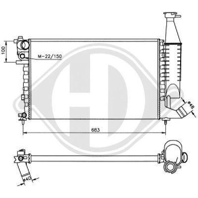 Radiateur, refroidissement du moteur - Diederichs Germany - 8104186