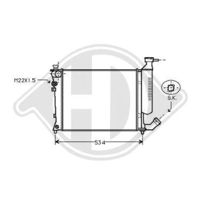Radiateur, refroidissement du moteur - HDK-Germany - 77HDK8104195