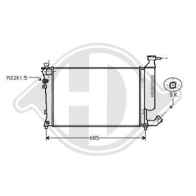 Radiateur, refroidissement du moteur - Diederichs Germany - 8104196