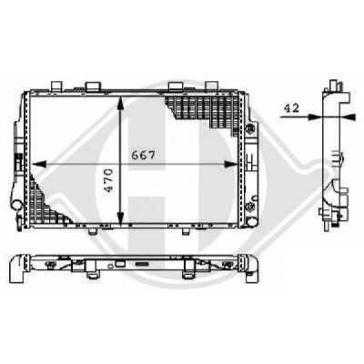Radiateur, refroidissement du moteur - Diederichs Germany - 8104197