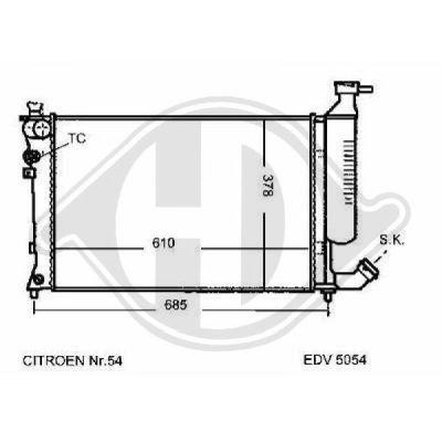 Radiateur, refroidissement du moteur - Diederichs Germany - 8104198
