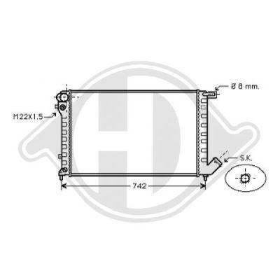 Radiateur, refroidissement du moteur - Diederichs Germany - 8104200