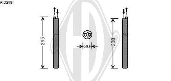 Filtre déshydratant, climatisation - Diederichs Germany - 8104509