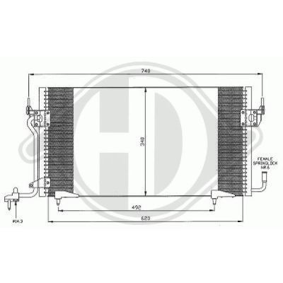 Condenseur, climatisation - HDK-Germany - 77HDK8105116