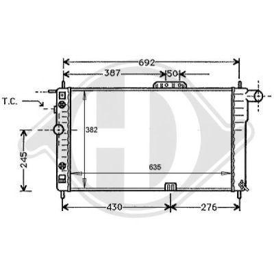 Radiateur, refroidissement du moteur - HDK-Germany - 77HDK8106101