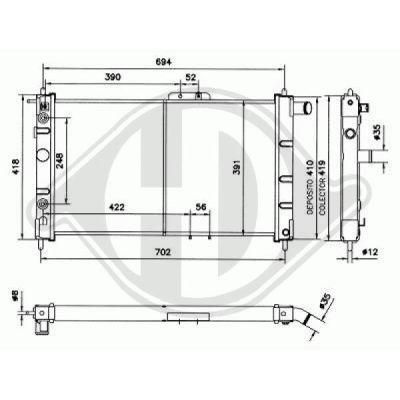 Radiateur, refroidissement du moteur - Diederichs Germany - 8106102