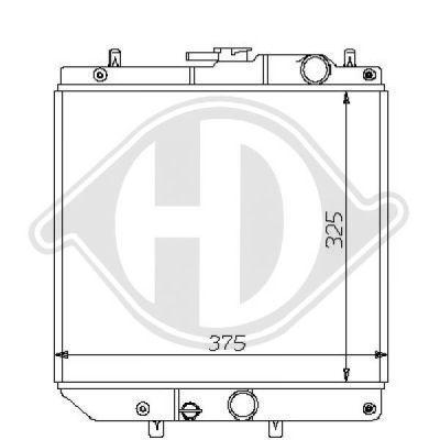 Radiateur, refroidissement du moteur - Diederichs Germany - 8108110
