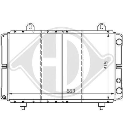 Radiateur, refroidissement du moteur - HDK-Germany - 77HDK8109103