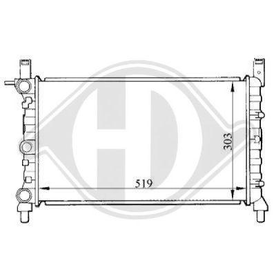Radiateur, refroidissement du moteur - Diederichs Germany - 8109106