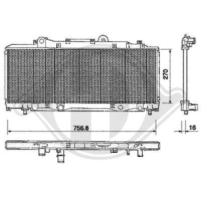 Radiateur, refroidissement du moteur - Diederichs Germany - 8109125
