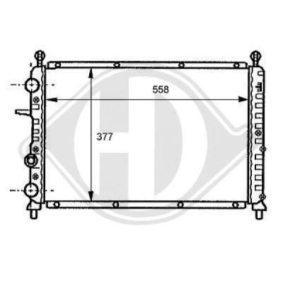 Radiateur, refroidissement du moteur - Diederichs Germany - 8109128