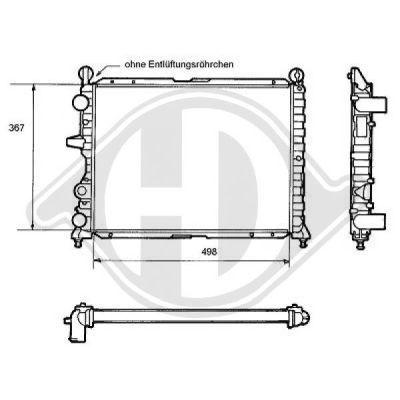 Radiateur, refroidissement du moteur - Diederichs Germany - 8109133